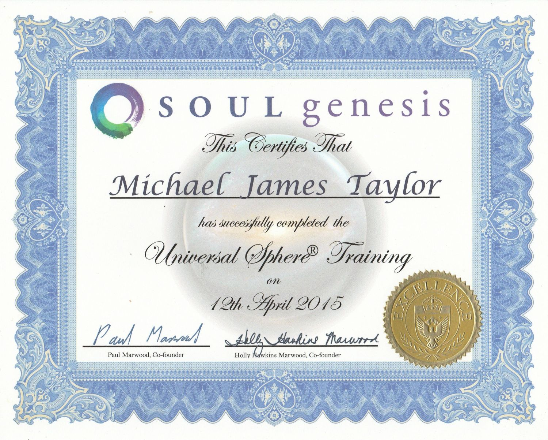 Universal Sphere Certificate